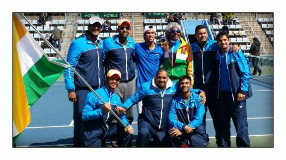 Creating history in Busan. India beating Korea in Korea for the first time ever. @DavisCup #WorldGroupCalling. http://t.co/3VkIdTjvsB
