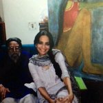 Khushwant Singh called this finger painter incarnation of Amrta Shergil, I'm mesmerized by her work, finest I've seen