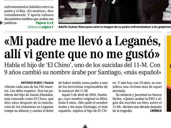 RT @Cronica_ElMundo: Así asoma @Cronica_ElMundo en la portada de El Mundo http://t.co/KmVIy8jnoZ