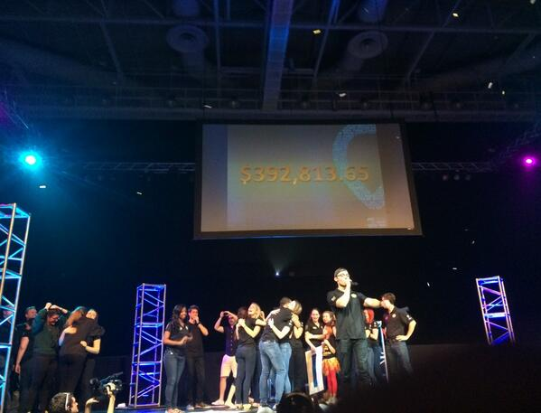 UCF! We raised $392,813.65!!!! There's nothing we can't do!! #GoKnights #ChargeOn http://t.co/VR5dnmxWV7