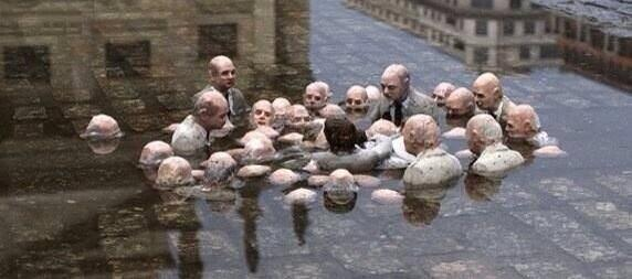 BRILLIANT sculpture in #Berlin: Politicians discussing global warming. By #IssacCordal cc @MarielHemingway @AnnCurry http://t.co/UVp3F5imxY