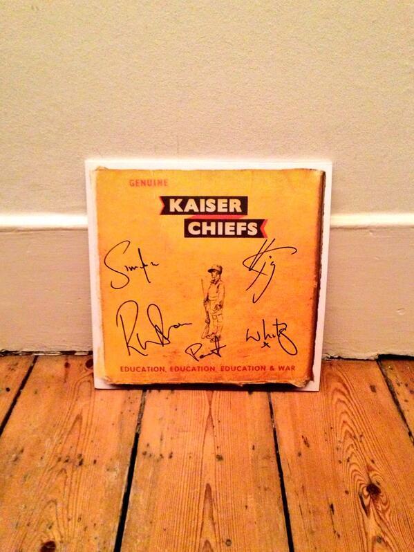 Congratulation @KaiserChiefs on #1!! http://t.co/2NZPbpofox
