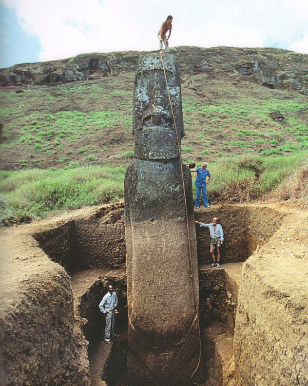 Easter Island heads? No way. The Rapa Nui moai are whole-body statues. There are 887 of them! http://t.co/KgP4Xop82d