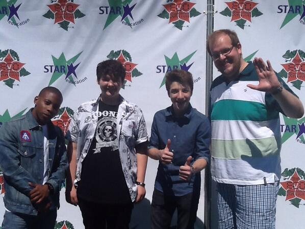 """@STAReducation: @AedinMincks @dominicburgess @TheJakeShort and @CarlonJeffery at #childrensearthday http://t.co/lF1nGyh6Sy""thanks again!!"
