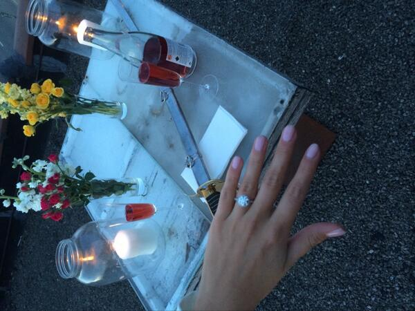 It's been a while, but this was worth it.. She said yes!!!!!!!!! @isBauche http://t.co/nrddd4ROJM