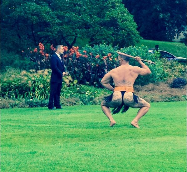 Suffice to say, undies were indeed worn by the haka group for Royal pohiri at Govt House. Kia Ora. #tekarere http://t.co/h50j1oGa90