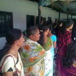 RT @senarijit: It's been 4 hours and the steady stream of women voters continues #assam #jorhat @ibnlive  #Elections2014 #Powerof49 http://…