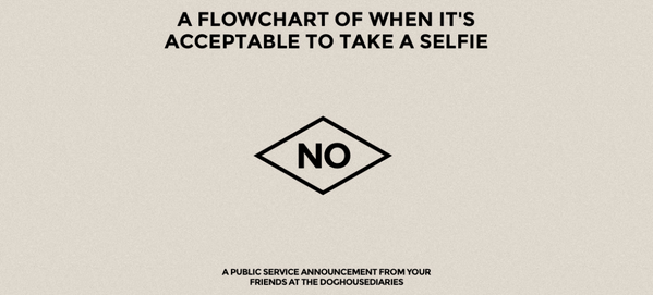 Perfect for #SelfieDay...  A Flowchart on when it's acceptable to take a selfie... http://t.co/etAENRqgL3