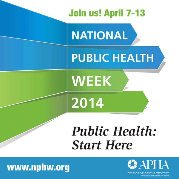 It's National Public Health Week! Join us April 7-13 as we celebrate public health! http://t.co/Mwh29Or7Si #NPHW http://t.co/vHYrtxjJ2Q