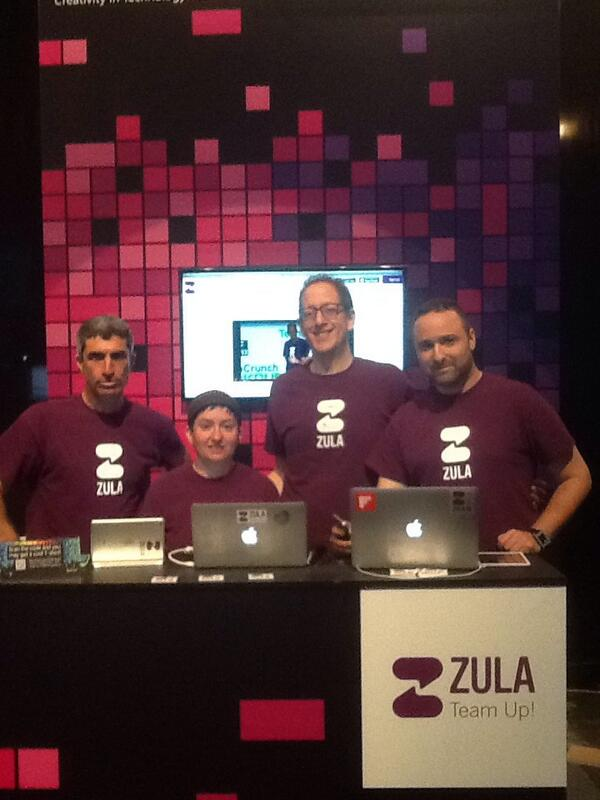 The @ZulaApp Team, Unifying Team Communication #TNXT14 come say hi, booth24 http://t.co/XWJVC5cCuM