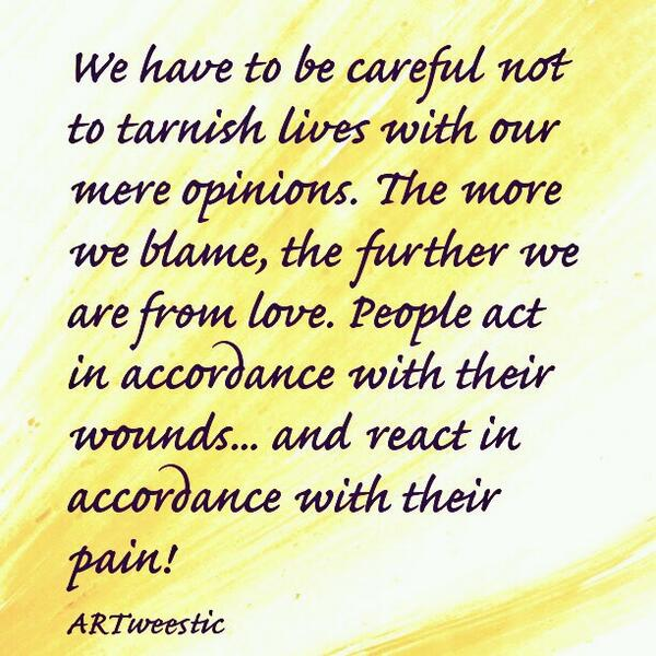 ♡ People act in accordance with their wounds.. and react in accordance with their pain ♡ #quote #byVera http://t.co/O49O5BksiO