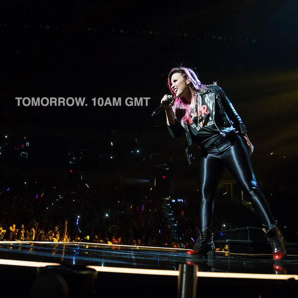 US star Demi Lovato set to make a UK related announcement at 10am tomorrow morning... watch this space for news. http://t.co/dilpWegeKU