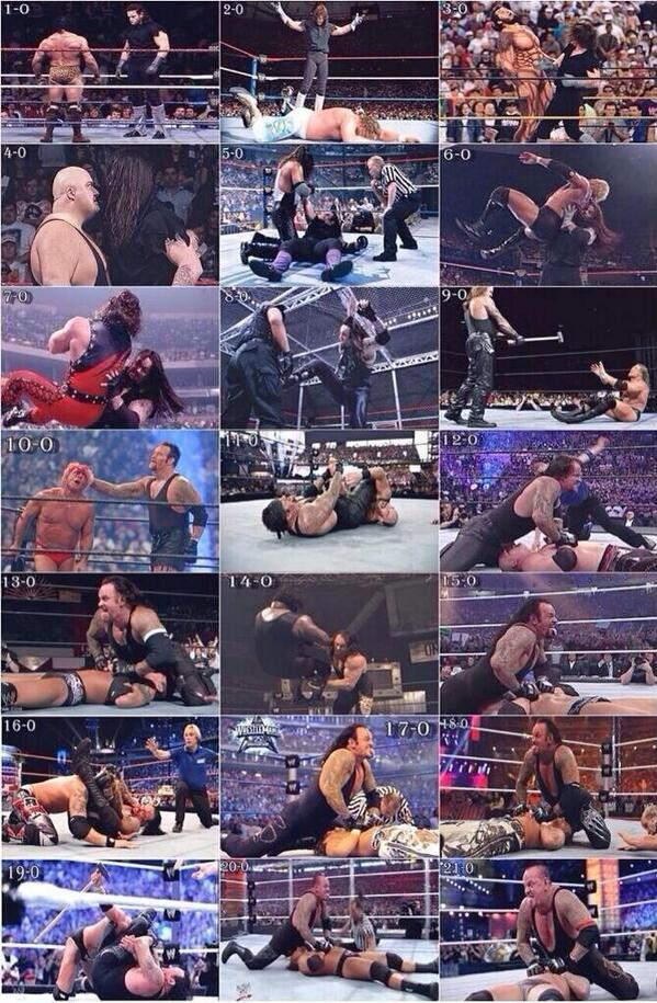 The greatest performer in Wrestlemania history. 21 years, 21 matches, 21 classics. #ThankYouTaker http://t.co/MTtONdYI1j