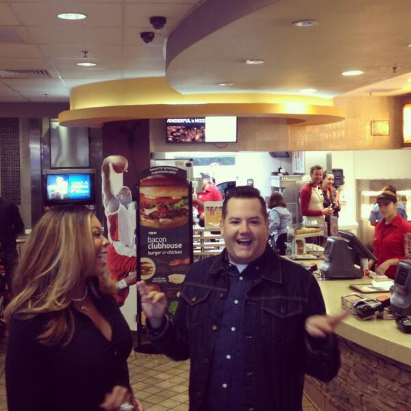 We have two guests working the drive-thru in #LA. You might just get free #McCafe from @HelloRoss & @WendyWilliams! http://t.co/PEIEtinnZ5