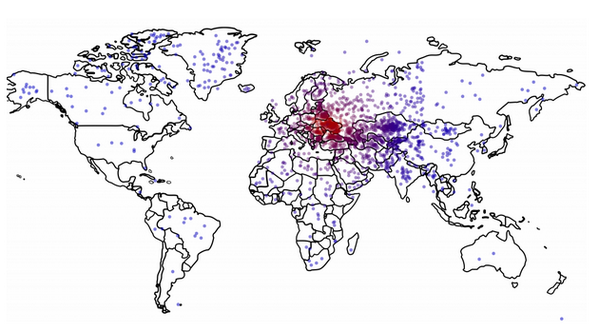 A heat map of where Americans think Ukraine is located: http://t.co/zkYPDiGXN3 via @katz http://t.co/2n9abAsGfd