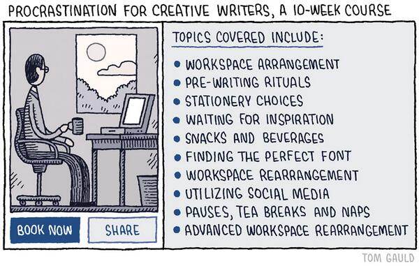 "Good advice for #inf530 too! 😜""@berfrois: At least you're creative in your procrastination http://t.co/M8LvRfiP1y"""