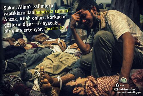 Sakın Allah'ı zalimlerin yaptıklarından habersiz sanma! . http://t.co/HTbKY6EXzk  AyakOyunlarınaGelme EvineDön