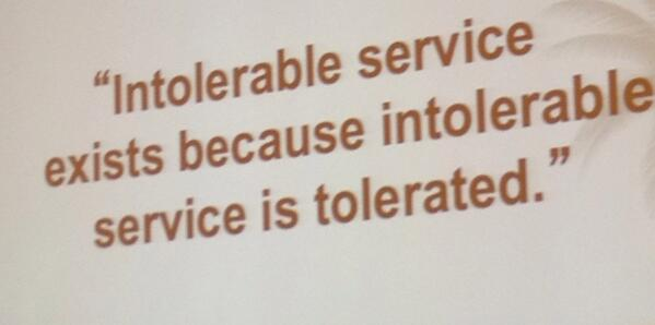 """My fav quote from an #ADPMOTM session on """"Leading a Culture of Service Excellence."""" http://t.co/KZeuln7xO6"""