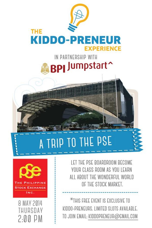 Inviting Kiddo-preneurs to the PSE this May for a field trip unlike any other!:) http://t.co/tQTrllCtV9