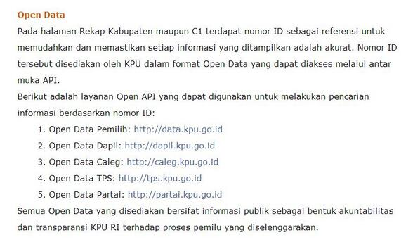 Indonesia Election Commission embraces open data via API for 2014 election. Great move! #opendata http://t.co/Q2ZgTwfZM5