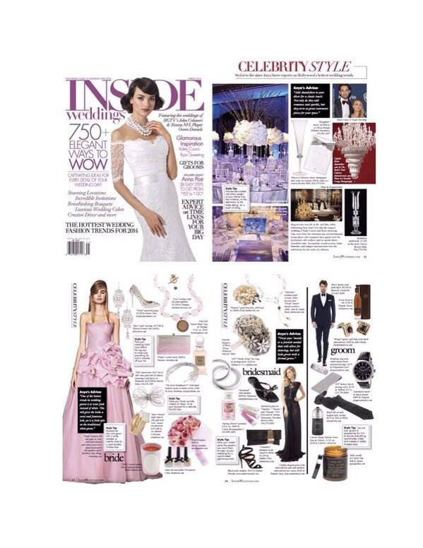 All the inspiration you need for the perfect #wedding, Pink wedding dress and all! @InsideWeddings #CelebrityStyle http://t.co/bim1UaryDO