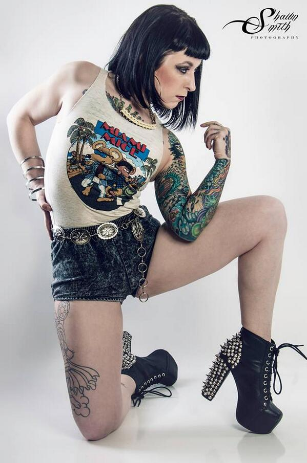 From a recent shoot. Can't wait to see how the rest turn out! #tattoos #girlswithtattoos #burningangel