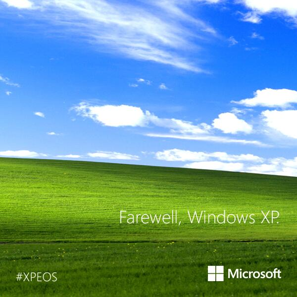 Farewell, #Windows XP. #XPEOS http://t.co/ZPPTYiFoRE