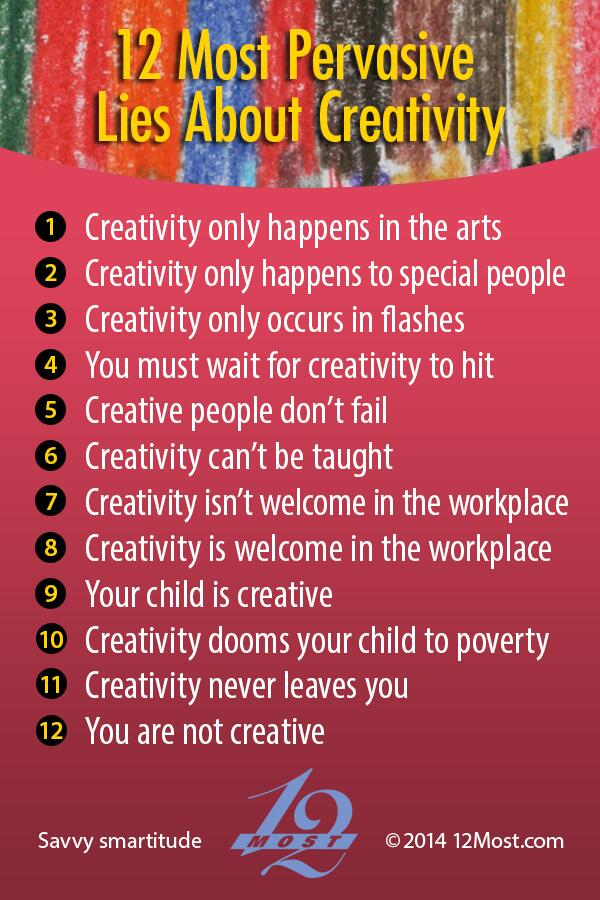 Everyone has the capacity to be more creative. >> http://t.co/Zf2opdJ6ti #creativity #12Most by @lindsaywriter http://t.co/aGQqJjjAg8