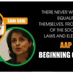 RT @AamAadmiParty: Soni Sori & Gul Panag are AAP candidates from Bastar & Chandigarh. Polls on 10th April.  #AAPMissionSwaraj http://t.co/y…