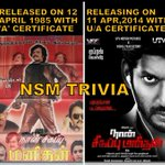 RT @sekartweets: RT @cinema_lead The #NaanSigappuManithan trivia
