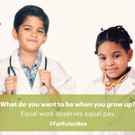 No daughter should be paid less than somebody else's son for the same work: http://t.co/PHMOXQU3Uh #FairFutureNow