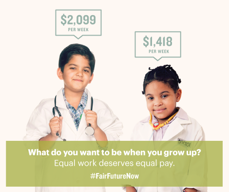 Girls who grow up to be executives, teachers or chefs should get equal pay. http://t.co/3ocUyDTHQA #FairFutureNow http://t.co/zaxwps4PPB