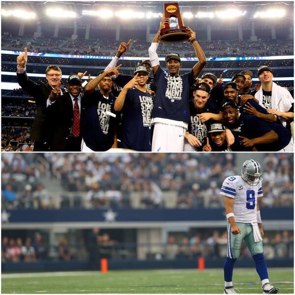 UConn has more POSTSEASON wins at AT&T Stadium (2) than the Dallas Cowboys (1). http://t.co/r9Umk1zAh3