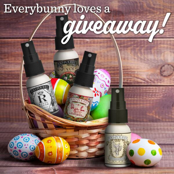 Everybunny loves a GIVEAWAY! RT to be entered to win (4) 1oz bottles— PERFECT for Easter baskets. Ends 4/11. http://t.co/VPBhvyEiEK