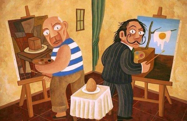 Sånn blir det når Picasso og Dali maler egg  http://t.co/mbYyjqoINL ifølge @mjrc1969