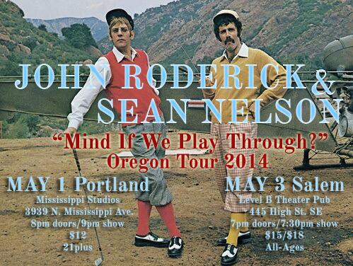 OK, Portland (May 1) and Salem, OR (May 3). Time to get excited. @johnroderick and I are coming to visit. http://t.co/eTlqwy0oon