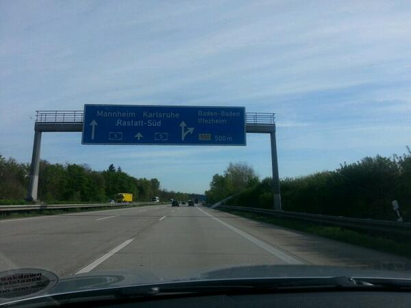 #MunichRoadTrip  that sign says Baden Baden. Allegedly. Off to get Adam a WAG! #MUFC