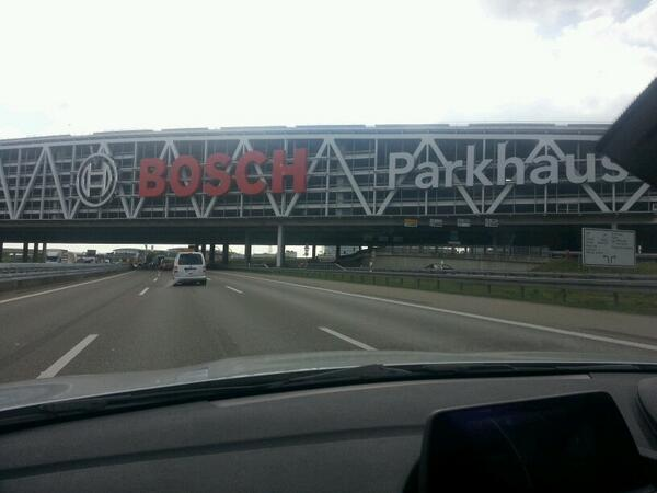 Thought this was a football stadium straddling the autobahn. It's not... Blame the 130mph speed limit #MunichRoadTrip