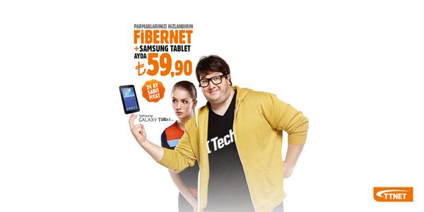 TTNET (@TTNETAS): Bu kampanya kaçmaz! TTNET Fibernet+Samsung Tab3 T110 tablet ayda 59,90 TL! Detaylar için tıkla!http://t.co/8R2GEaQO1j http://t.co/zXArMbNc1G