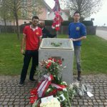 Manchesterplaz. Paying our respects #MunichRoadTrip #MUFC