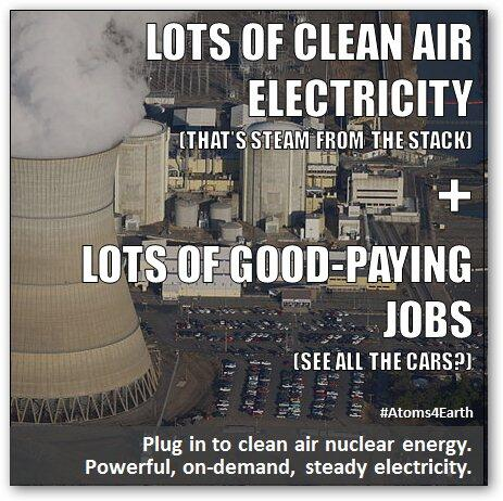 Lots of clean air electricity + Lots of good-paying jobs = Lots of reasons for more US nuclear energy. #Atoms4Earth http://t.co/QOwEWyI4VA