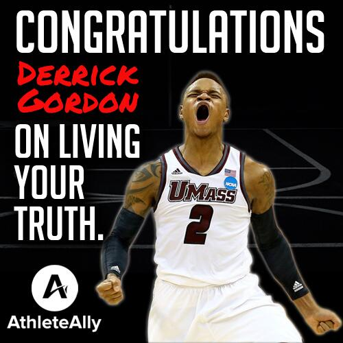UMass Basketball player Derrick Gordon comes out as gay. Congrats, Derrick! http://t.co/H177pBf5u2 via @outsports http://t.co/LoFHlFwWCX