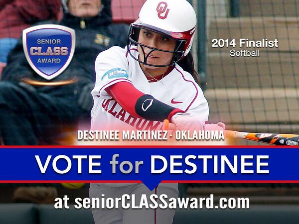 Have you voted yet for the homie @D_Martinez00 for the Senior CLASS Award? ⚾️❤️