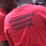 "RT @dalene_nel: LoL! EFF misspells ""economic"" on their T-shirts. #SouthAfrica http://t.co/YQdUa24AEN @Lean3Jvv"