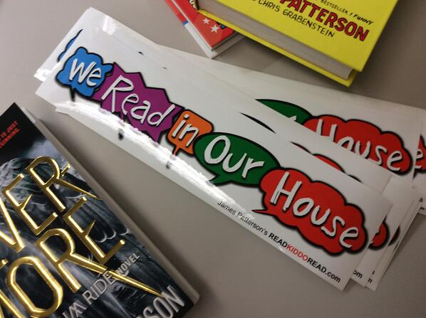 Do you read in your house? Let everyone know, RT to win 1 of 20 bumper stickers. US+CN. #TXLA2014 #wereadinourhouse http://t.co/6H230WqPjj