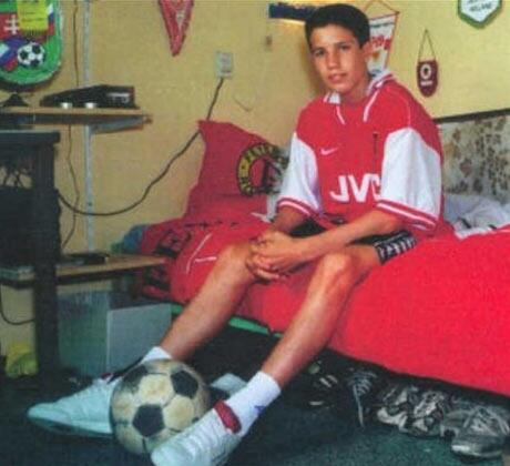 Penny for this little boy's thoughts on playing European football next season at Manchester United... http://t.co/dxUWZu0NWk
