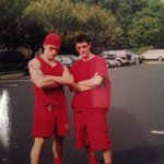 RT @Ides_of_Marth: For #tbt here is a pic of me and @War_and_Peach from class color day, senior year of high school. #2002 http://t.co/e9ynWBFC4K