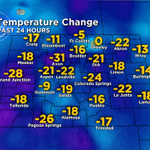 RT @LaurenCBS4: Off to a much cooler start this morning, heres the 24 hour temp change. Happy Thursday! #cowx http://t.co/LCEHTgxUgf