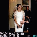 RT @markacuthbert: Kate in White for reception tonight . #RoyalVisitAus http://t.co/DqJNoy0vEj