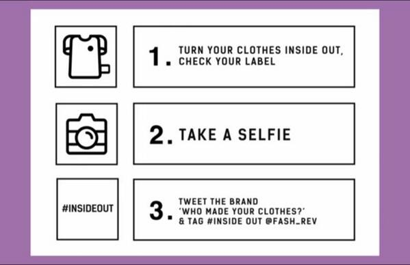 Take it off. Go #insideout. Grab your phone. Take a selfie. Ask the brand #whomadeyourclothes? http://t.co/sTFLdrwCsN